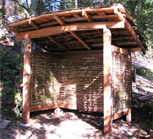 sustainability wood shed