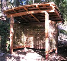 sustainability wood shed