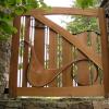 Pender Island Handsplit Red Cedar Driveway Gate Project