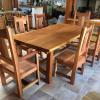 Reclaimed cedar dining set