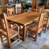 Reclaimed cedar dining set