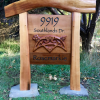 Rosemarkie Cedar Address Sign