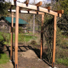 Curved top 4 post arbour
