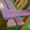 Schaeffers bench armrest wood detail