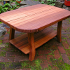 Handsplit red cedar coffee table