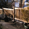 All hand split cedar picket fence