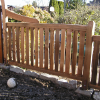 Hand split cedar picket fence