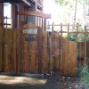 Handsplit cedar entry gate