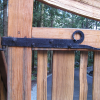 Custom driveway gate hinges