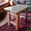 Cedar Table With Recycled Glass Top