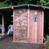 All handsplit cedar shed