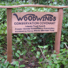 Land conservation signs on Pender Island, BC