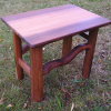 Wavy wood small night table