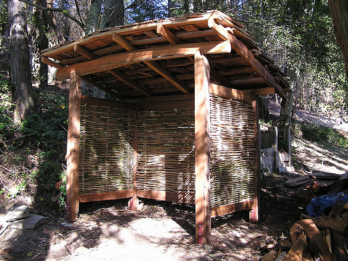 Cedar And Bamboo Garden Shed Thuja Wood Art Reclaimed