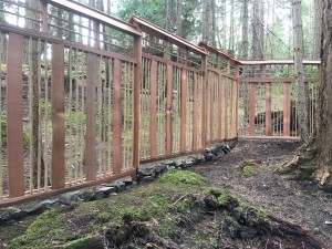 He Fence Enclosure Is Built To Hold A Future Bamboo Garden Within A West  Coast Forest. The Fence Panels Are Constructed With Salvaged Red Cedar  Grapestake ...