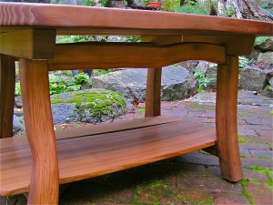 The Design I Came Up With Works Well To Show Nice Curvy Pieces Of Cedar Used For Legs And Rails Table Is Sanded Smooth Oiled A Natural