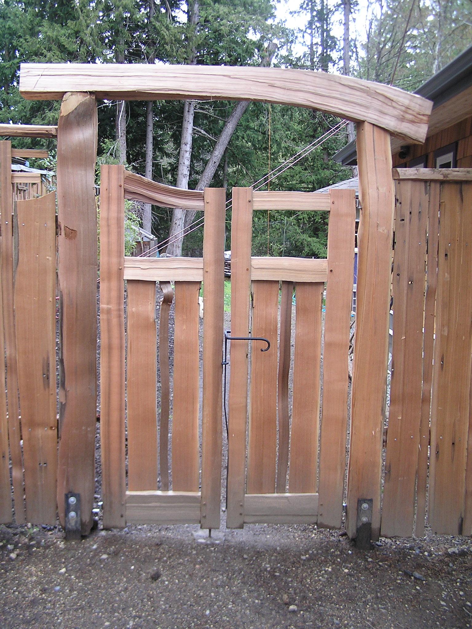 Image for Cedar garden gate designs