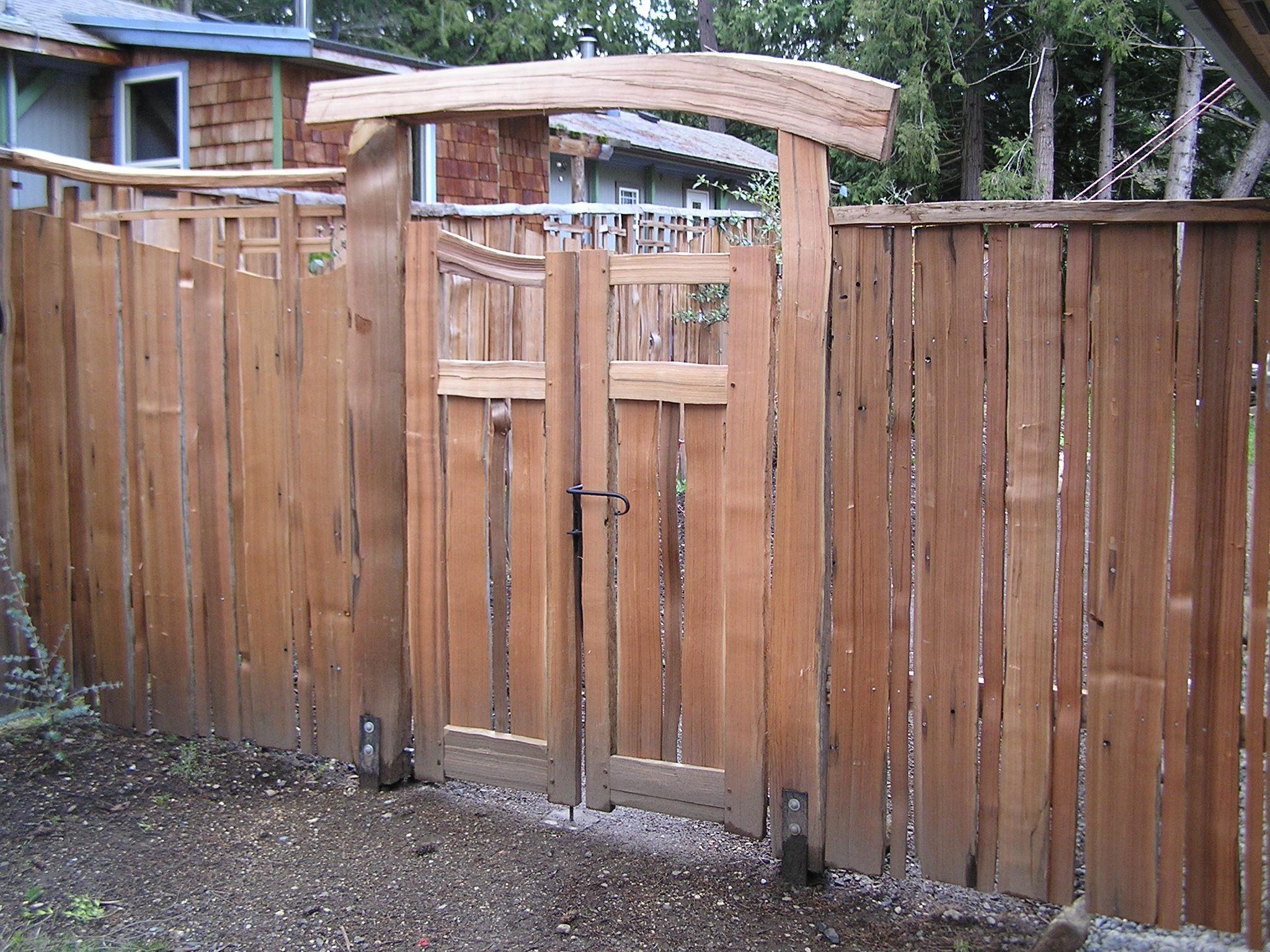 Gates cedar sustainable woodwork for Cedar garden gate designs