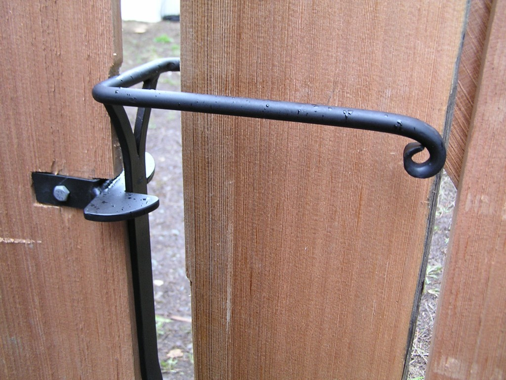 Sprung Gate Latch With One Way Catch Cedar Sustainable
