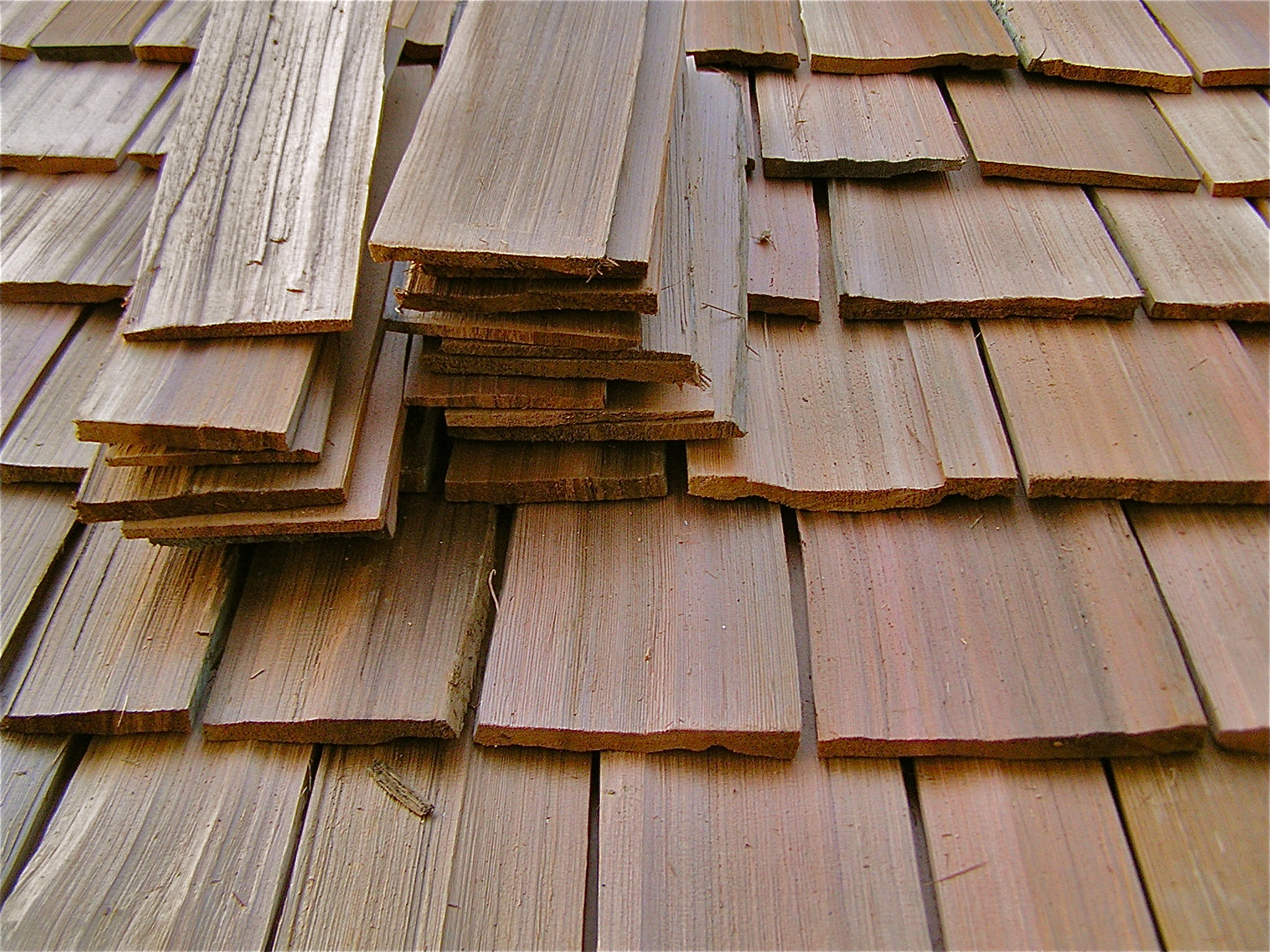 Hand Split Cedar Roof Shakes Thuja Wood Art Reclaimed