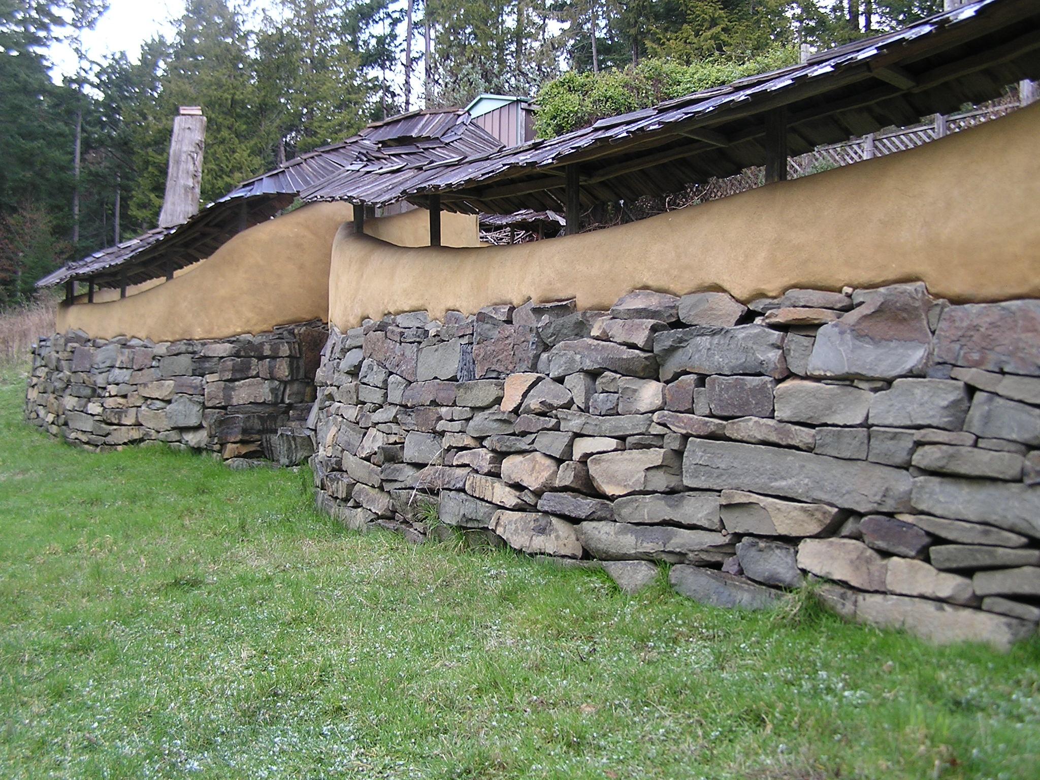 Cob And Cedar Courtyard Thuja Wood Art Reclaimed Cedar