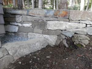 drystack retaining wall