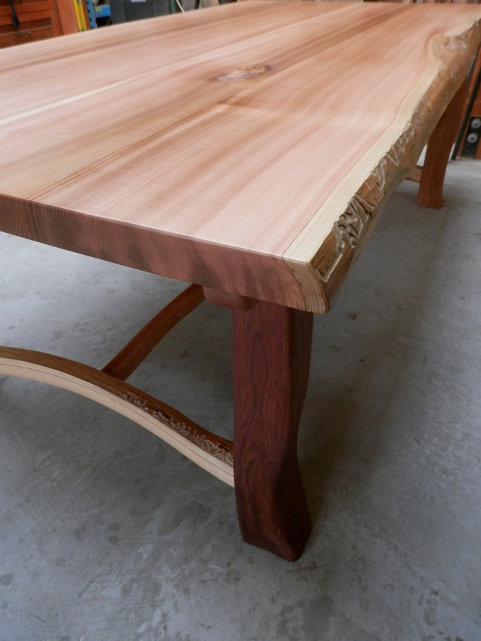 Bon Red Cedar Dining Table