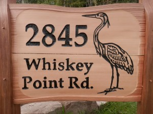 Whiskey Point sign