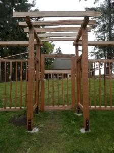 cedar arbour and gate