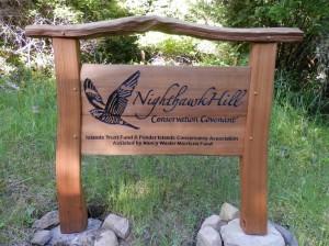 Nighthawk Hill Sign
