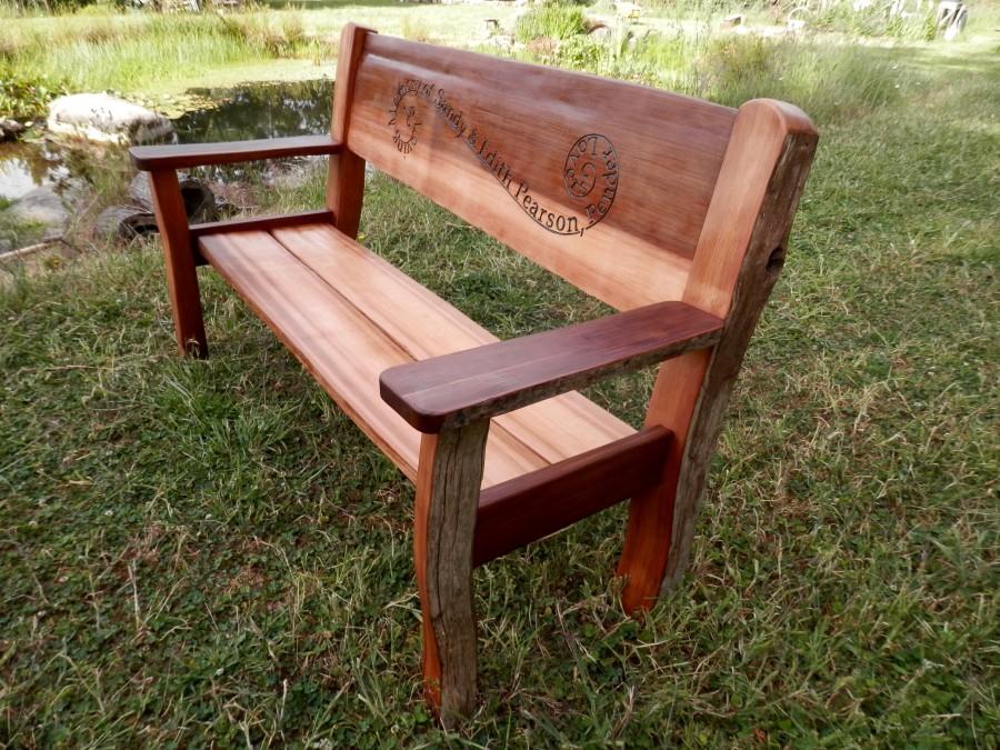 Strange Pearson Memorial Bench Thuja Wood Art Machost Co Dining Chair Design Ideas Machostcouk
