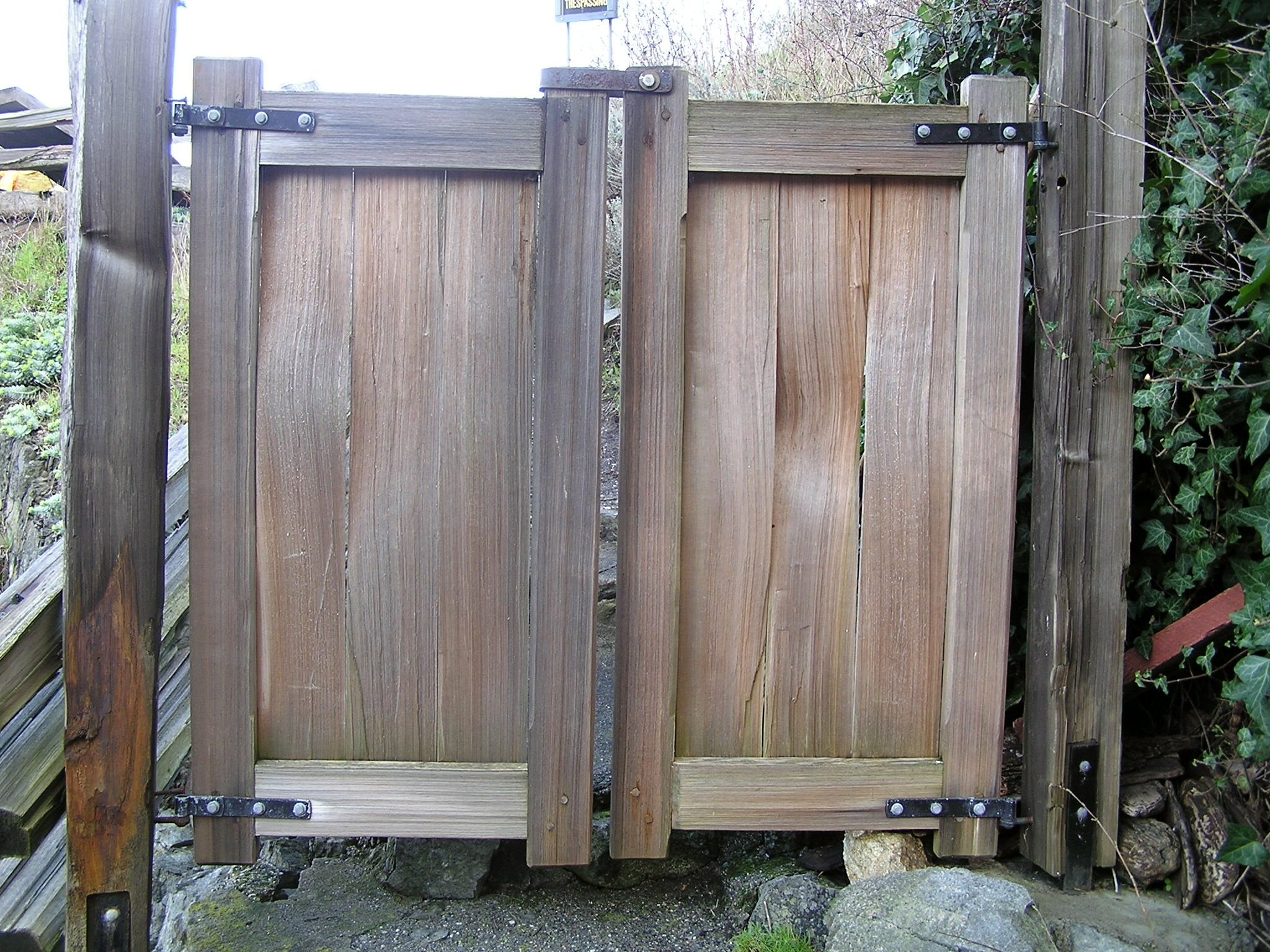 wood fence double gate. Double Gates To The Beach Wood Fence Gate
