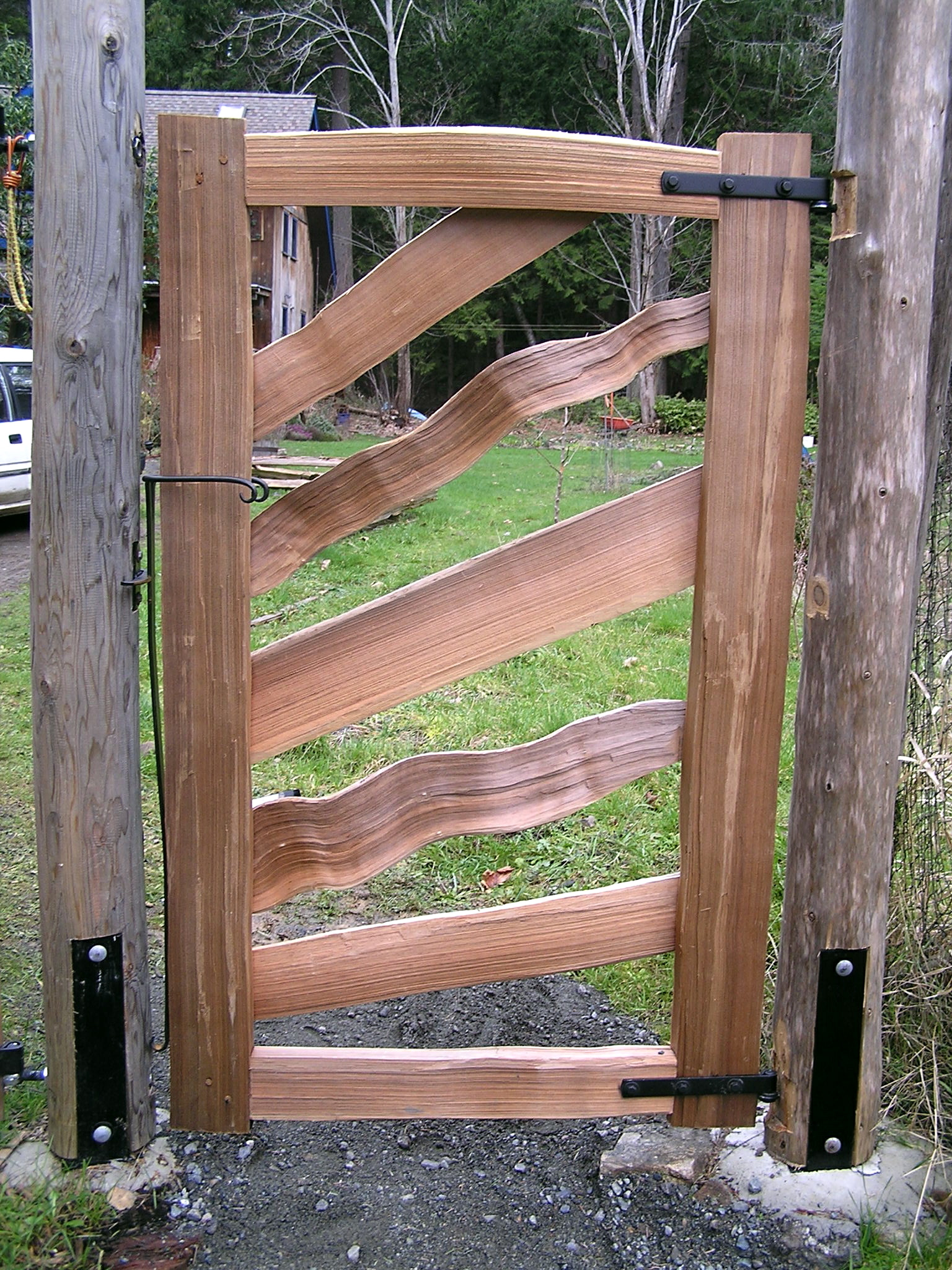 Gates cedar sustainable woodwork for Outdoor garden doors