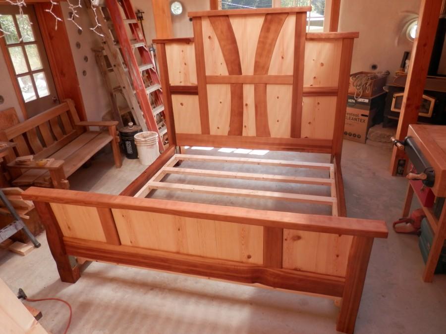 Saratoga Beach Custom Bed Project Thuja Wood Art