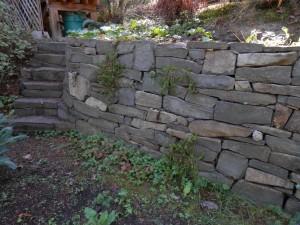 drystack garden wall