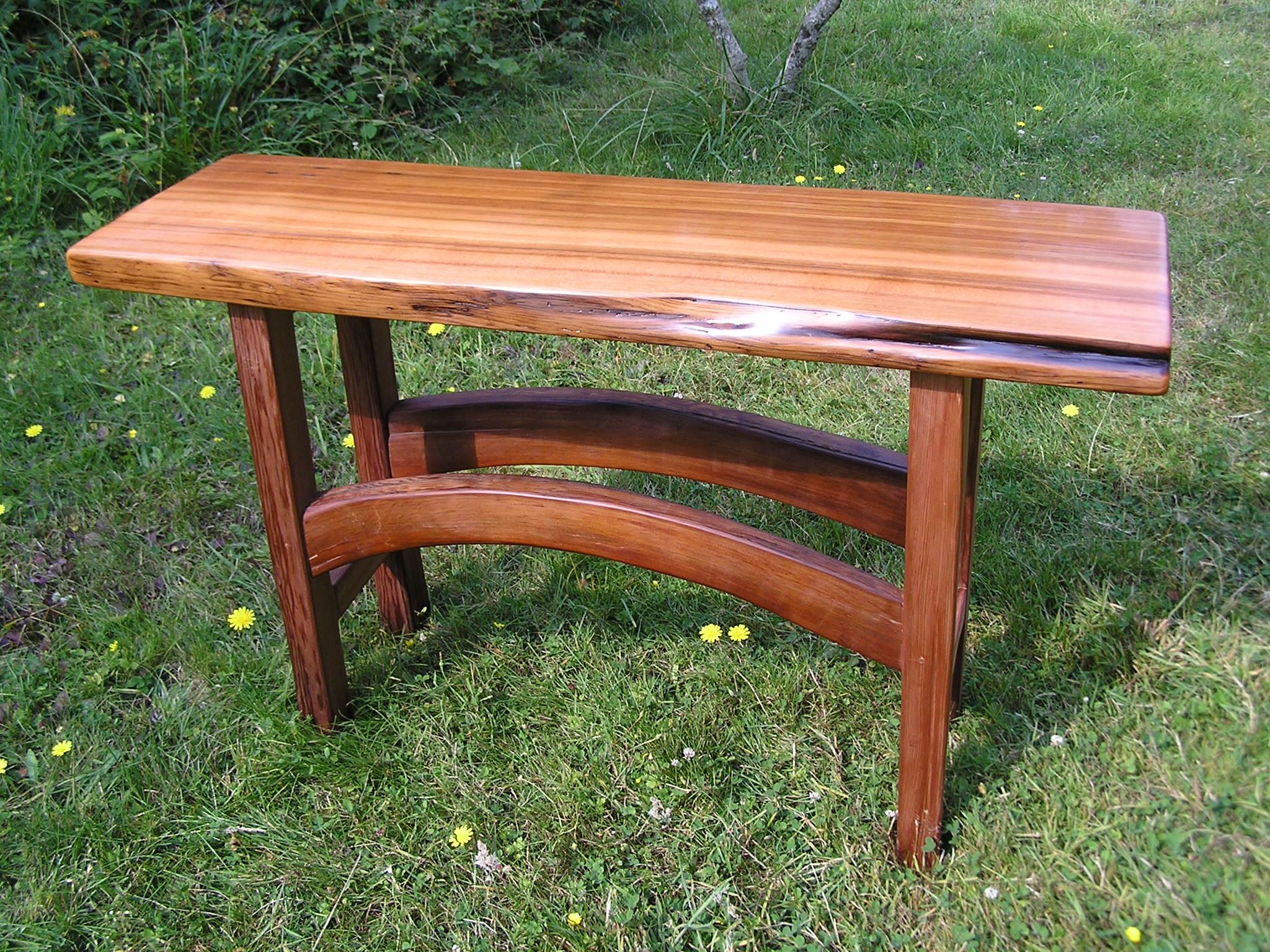 Pat's red cedar table with live edge Cedar Sustainable