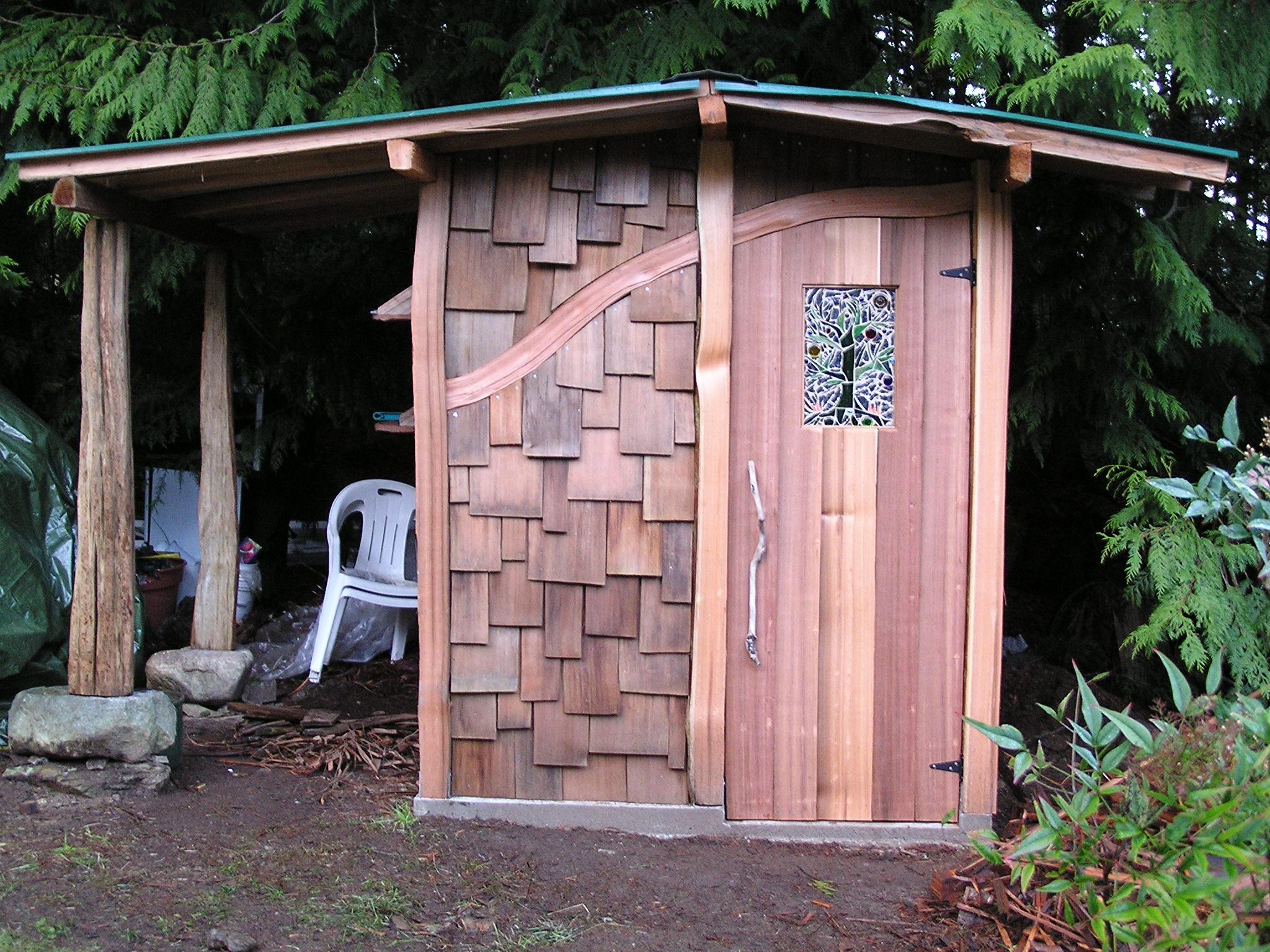 all handsplit cedar shed cedar sustainable woodwork