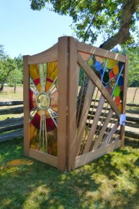 gates displayed at Art In the Orchard